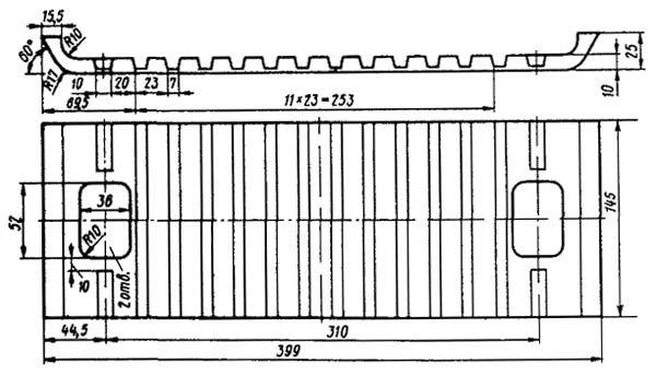чертёж прокладки ЦП-487 СП-487